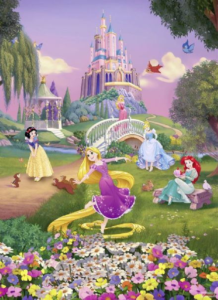 Disney princess garden wall mural wallpaper